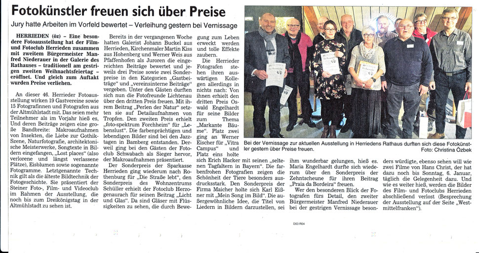 Norbert Löhner nahm den Preis stellvertretend entgegen