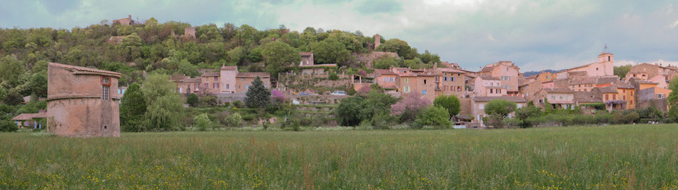 Panoramique du village de Bras