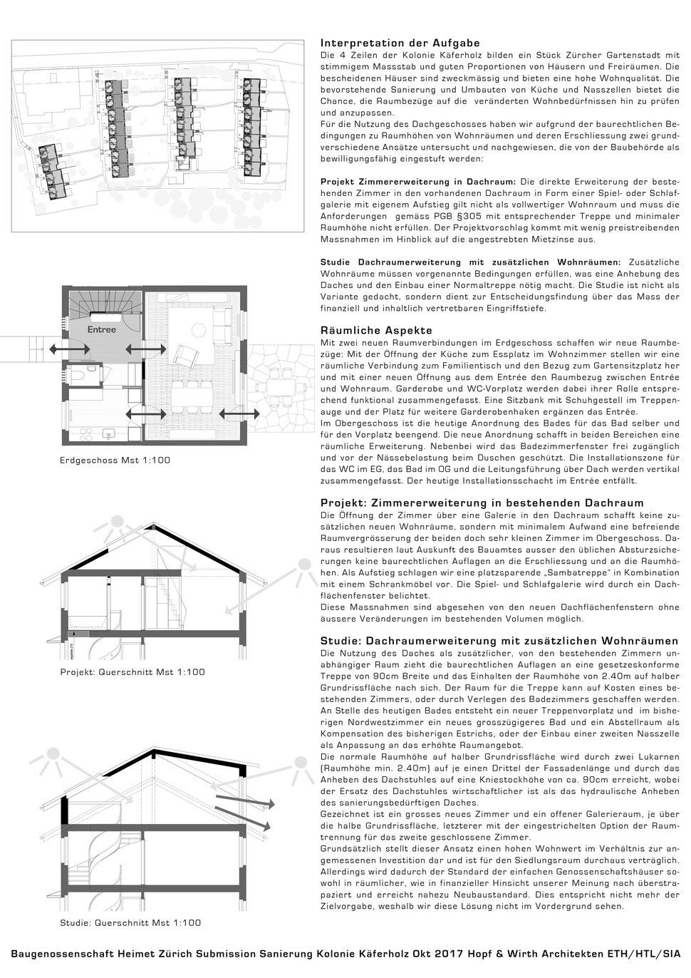Umbau Sanierung Wohnbaugenossenschaft Neue Heimat, Zürich, Hopf & Wirth Architekten