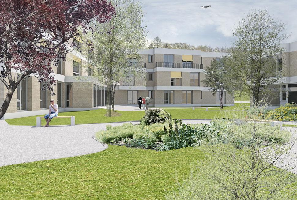 Wettbewerb Erweiterung / Neubau Wohngruppen Pigna, Kloten, Hopf & Wirth Architekten, Winterthur