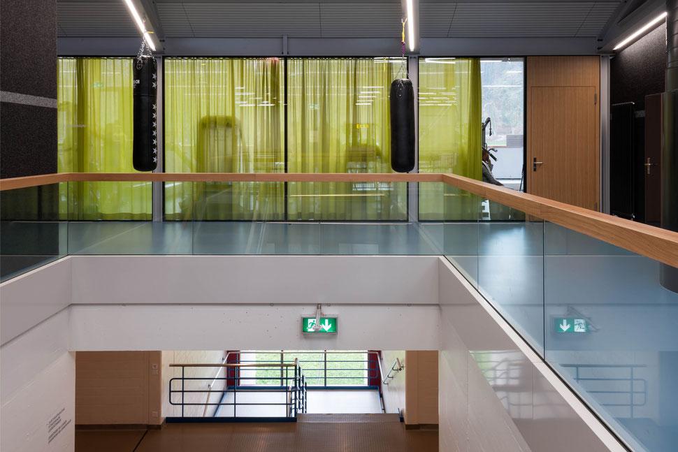 Erweiterung Turnhallen Berufsbildungsschule Winterthur BBW, Baudirektion Kanton Zürich, Hopf & Wirth Architekten Winterthur