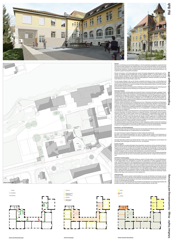 Wettbewerb Gesamtsanierung und Erweiterung Schulhaus Stapfer, Brugg, Hopf & Wirth Architekten Winterthur, www.hopfwirth.ch