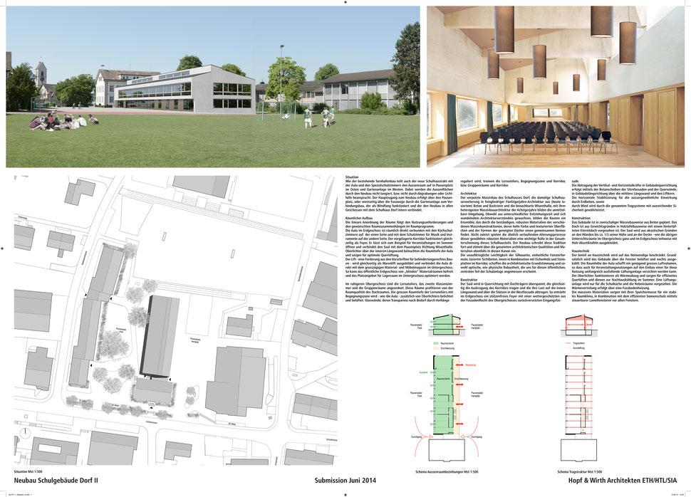 Wettbewerb Neubau Schuhaus Dorf II, Wiesendangen, Hopf & Wirth Architekten Winterthur, www.hopfwirth.ch