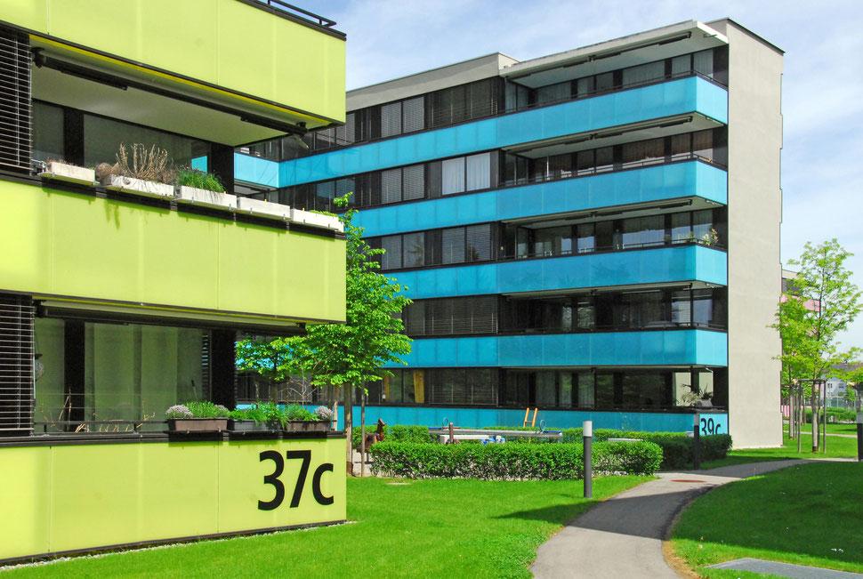Neubau Wohnüberbauung Talwiesen (Scheco Areal) Winterthur, AXA Winterthur Versicherungen, Hopf & Wirth Architekten