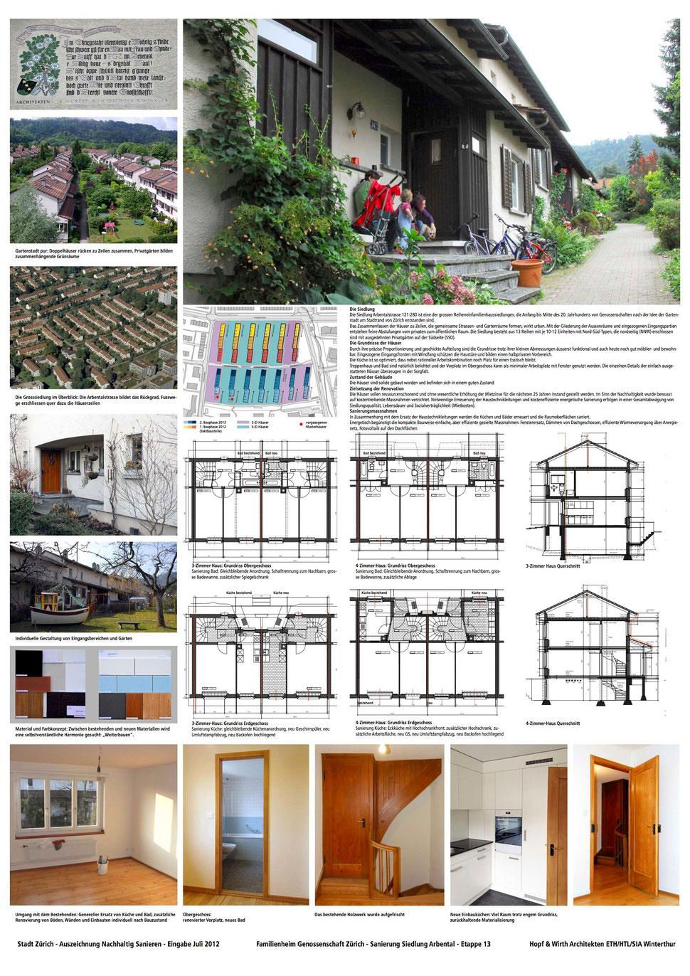 Hopf & Wirth Architekten ETH HTL SIA Winterthur - FGZ - Siedlung Arbentalstrasse