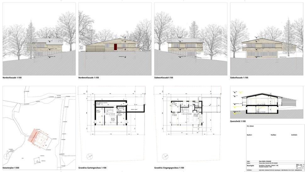 Hopf & Wirth Architekten ETH HTL SIA Winterthur, Neubau Wohnhaus in Schwändi