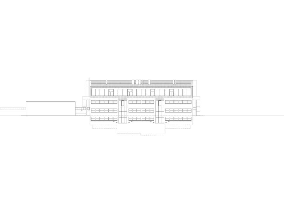 Hopf & Wirth Architekten ETH HTL SIA Winterthur, Erweiterung Turnhallen Berufsbildungsschule Winterthur BBW, Südfassade