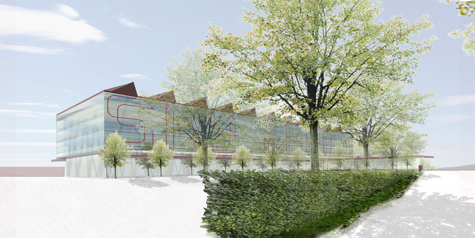 Hopf & Wirth Architekten ETH HTL SIA Winterthur, Wettbewerb Head Quarter Sky-Frame AG, Frauenfeld,