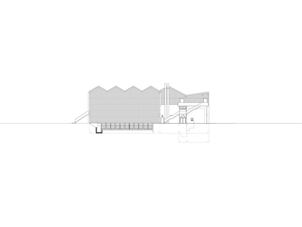 Hopf & Wirth Architekten ETH HTL SIA Winterthur, Erweiterung Turnhallen Berufsbildungsschule Winterthur BBW, Westfassade