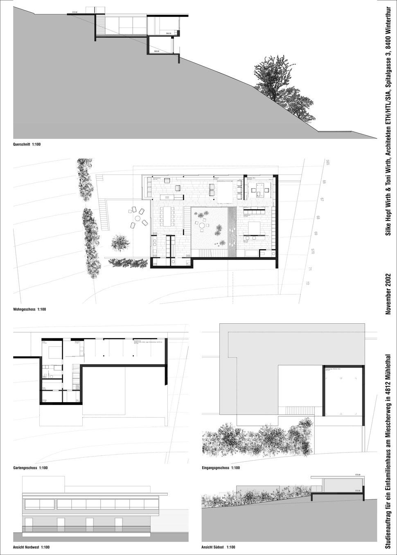 Hopf & Wirth Architekten ETH HTL SIA Winterthur, Wettbewerb Neubau Wohnhaus in Zofingen