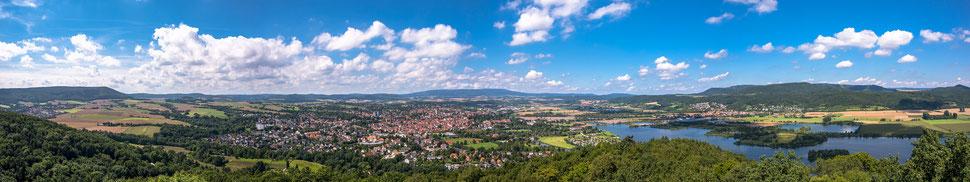Landschaft Werratal bei Eschwege (Original 16654x3128 Pixel)