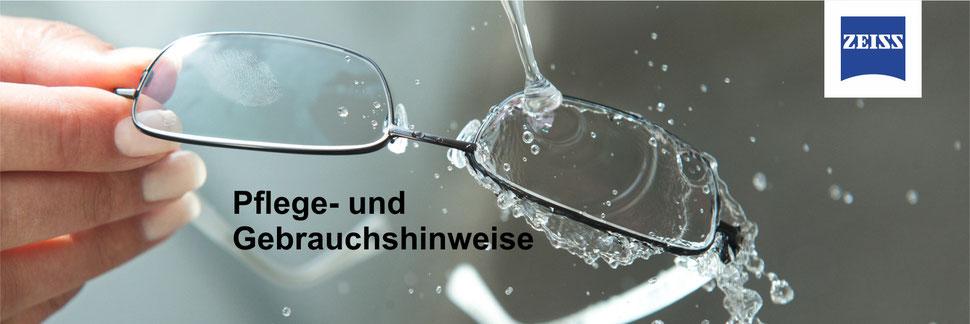 Pflege- und Gebrauchshinweise zu ZEISS Präzisions-Brillengläser