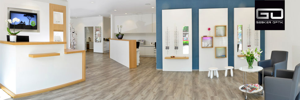 Eingangsbereich vom Relaxed Vision Center Gronau - Gebker Optik