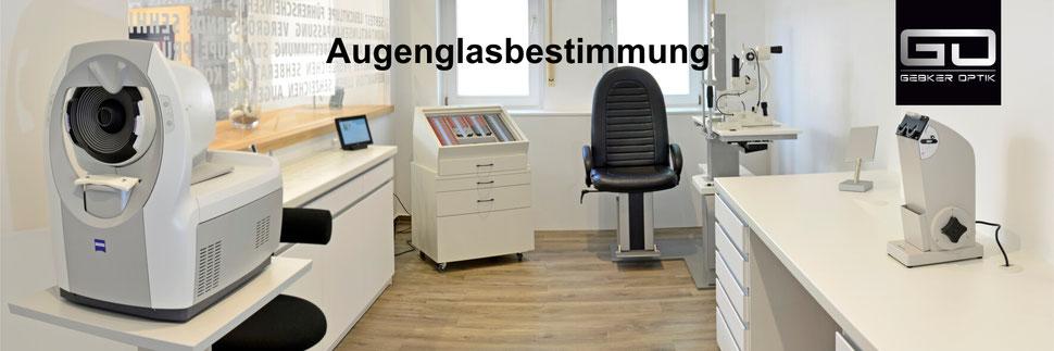 Prüfraum für Augenglasbestimmung im Relaxed Vision Center Gronau - Gebker Optik