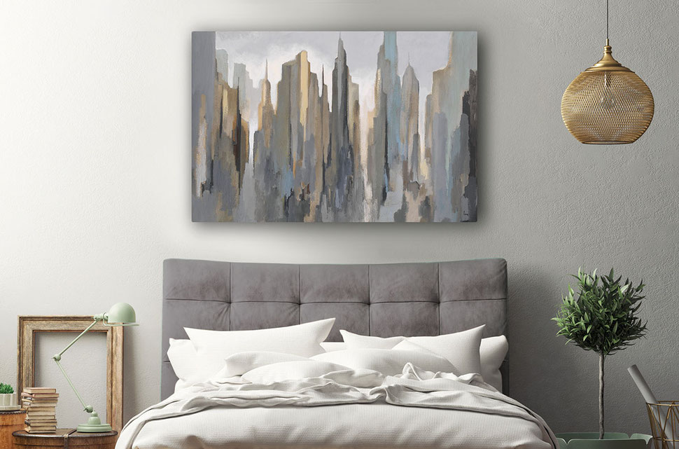 """Midtown Skyline"", limited edition print on canvas"