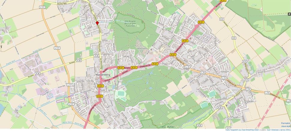 Zur Eingabe Ihrer Routenplanung, können sie sich durch Anklicken der Karte mit Google Maps verbinden.