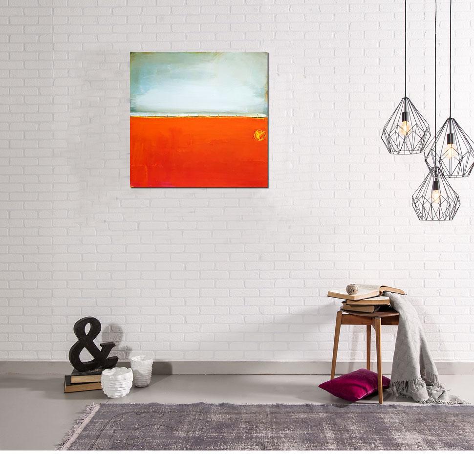 Bild abstrakt in orange