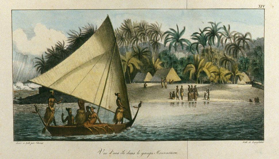 Ludwig Choris: Eine Insel der Krusensterngruppe