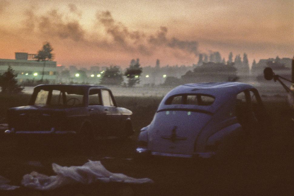 Autos in Polen 1988, Foto: Ann-Christine Jansson