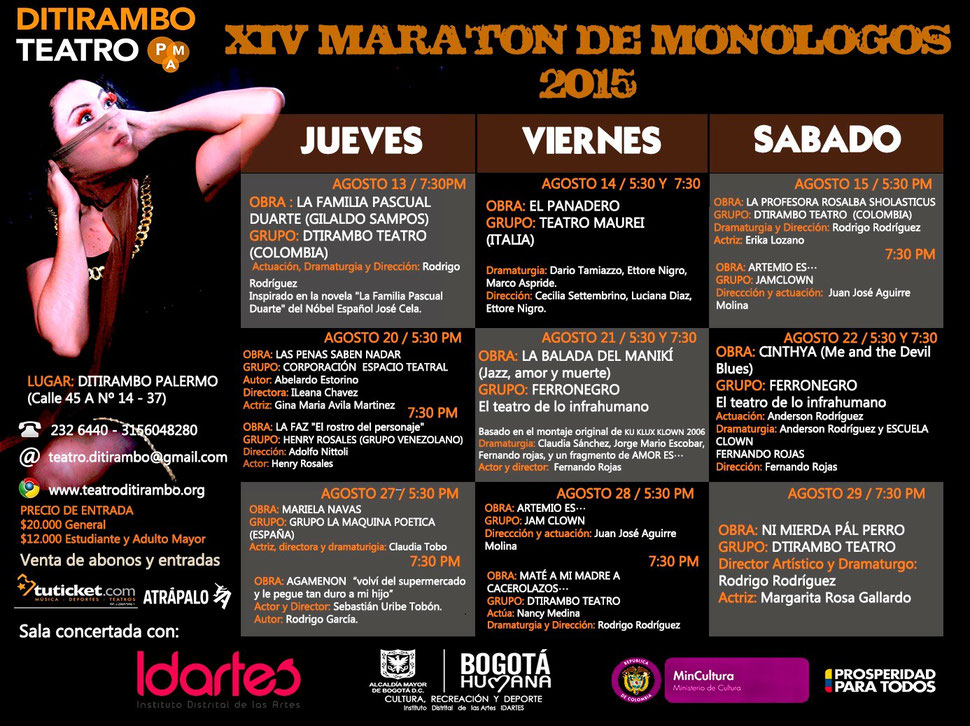 XIV Maratón de Monólogos