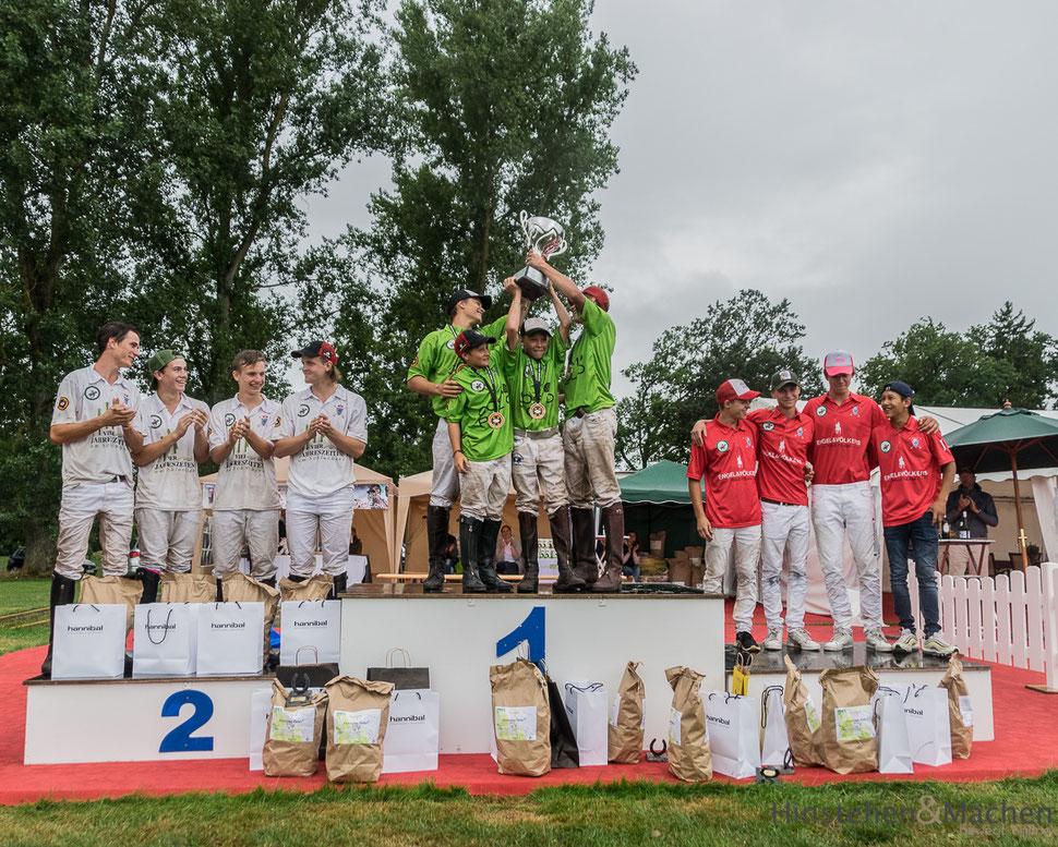 Gratulation an die Deutschen Meister aus München,  unsere Jungs vom Schwarzwald Polo Club - verdiente Deutsche Vizemeister und auf Platz 3 das Team aus Hamburg