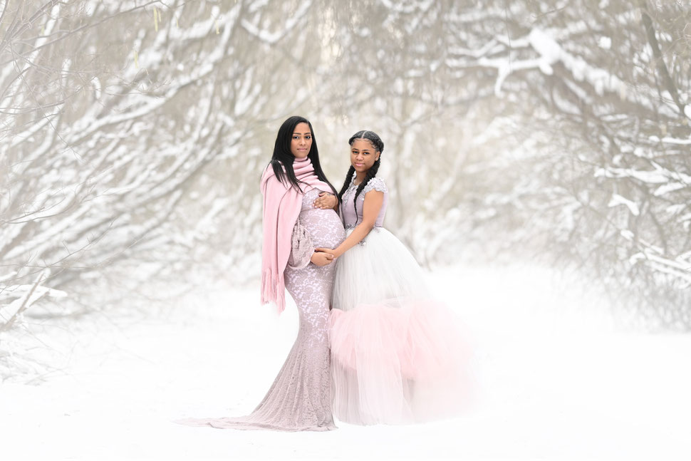 zwangerschapsfotografie locatie snow