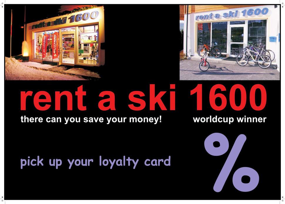 Rent a Ski 1600 -10% Gutschein