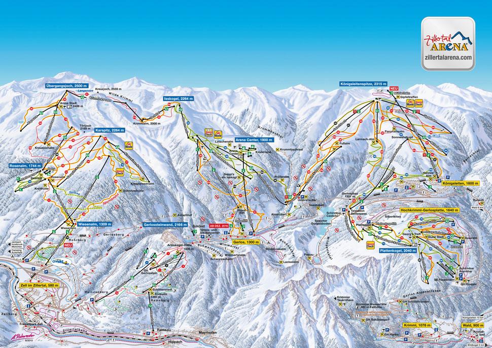 Zillertal Arena Karte