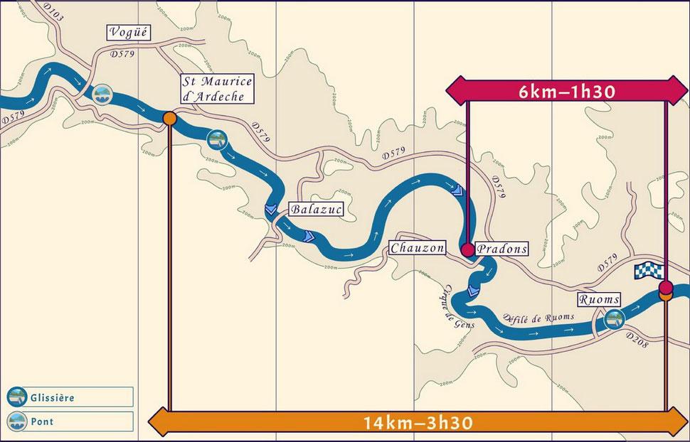 Les descentes canoë kayak en moyenne Ardèche de Saint Maurice d Ardèche ou de Pradons à Ruoms