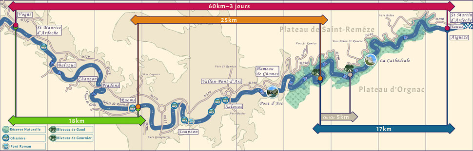 La descente en Canoë kayak de Saint Maurice d'Ardèche à Sauze