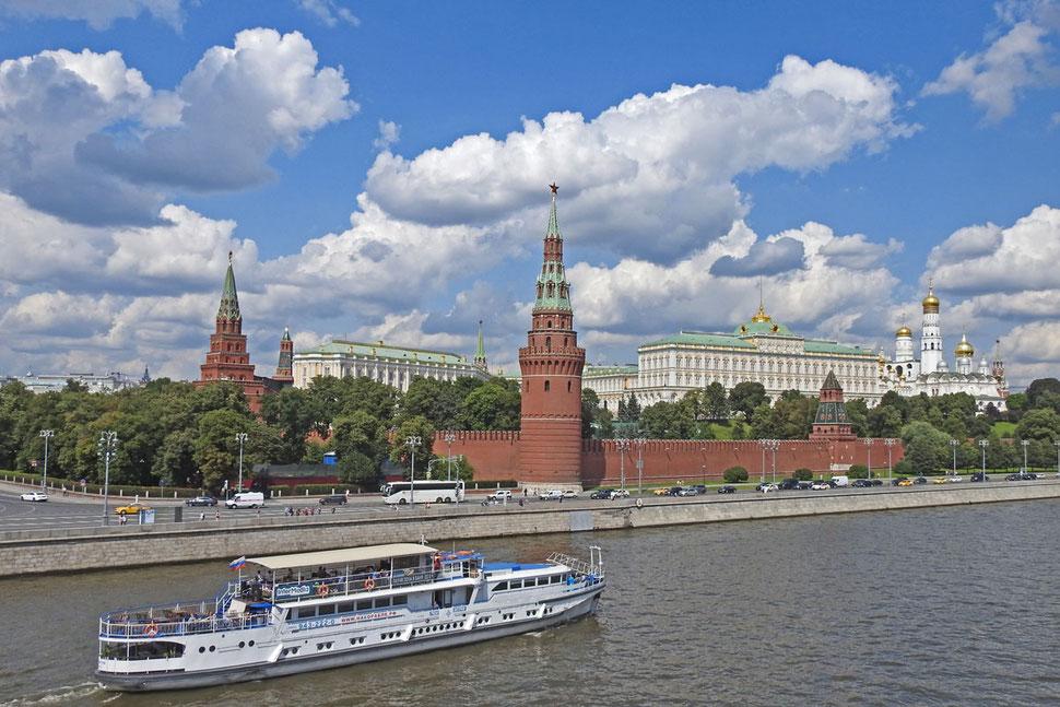 Moskauer Kreml und Moskwa-Fluss