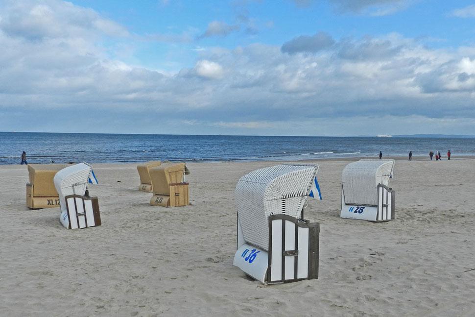 Пляжные корзины на Узедоме.