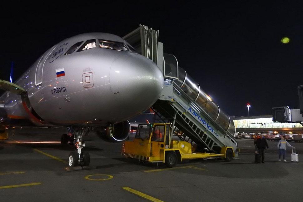 Aeroflot-Flugzeug in Moskau-Scheremetjewo