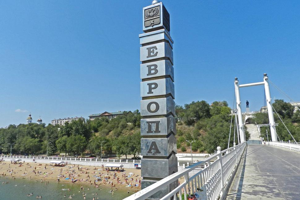 Orenburg Europa Asien Brücke Ural