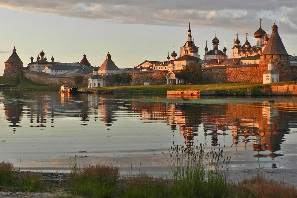 Solowezki-Kloster Insel Weißes Meer Weiße Nächte