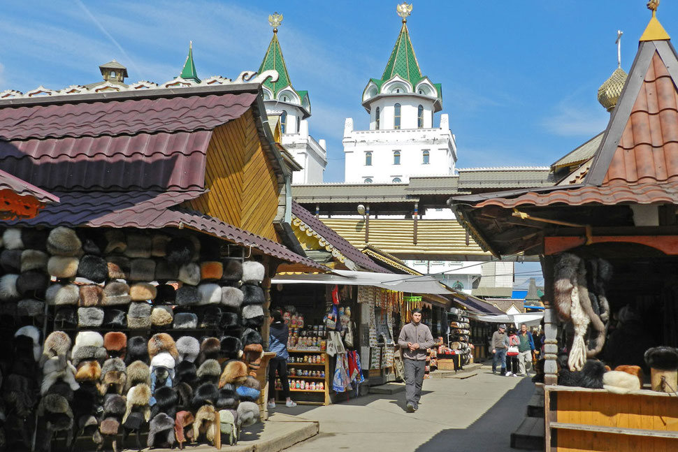 Ismailowski Vernissage Moskau Souvenirmarkt
