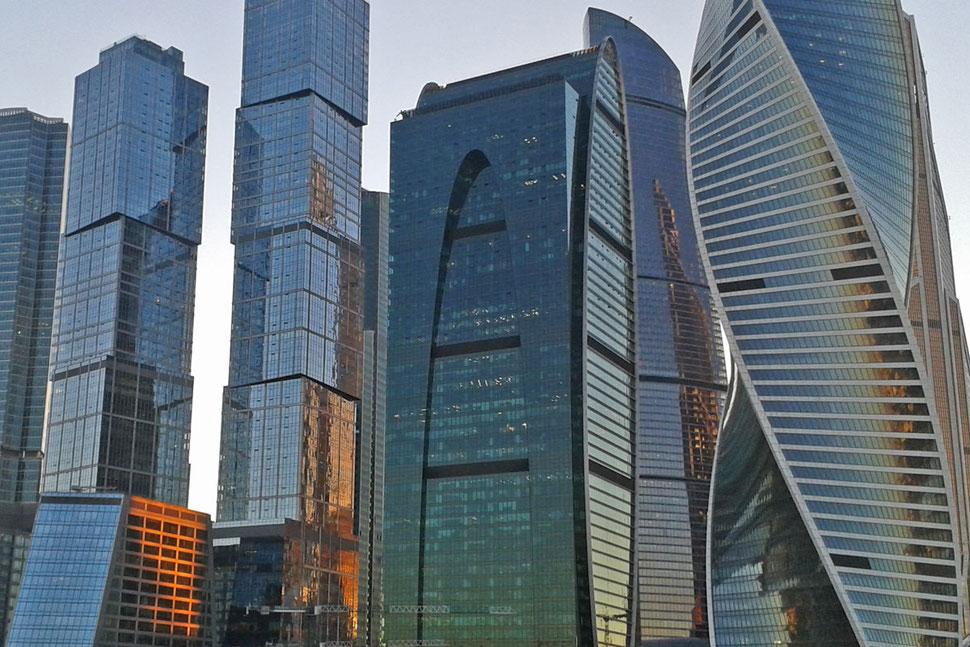 Moskau City Wolkenkratzer Hochhäuser