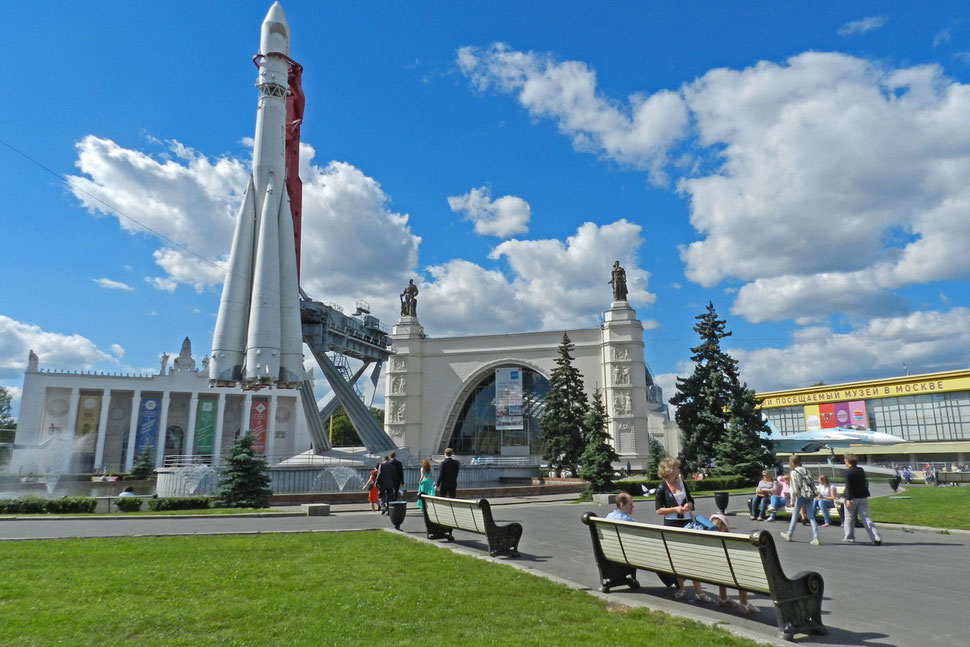 Wostok-Rakete WDNCh Ausstellung Moskau