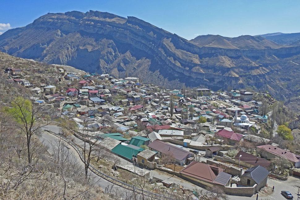 Blick auf Gunib in Dagestan