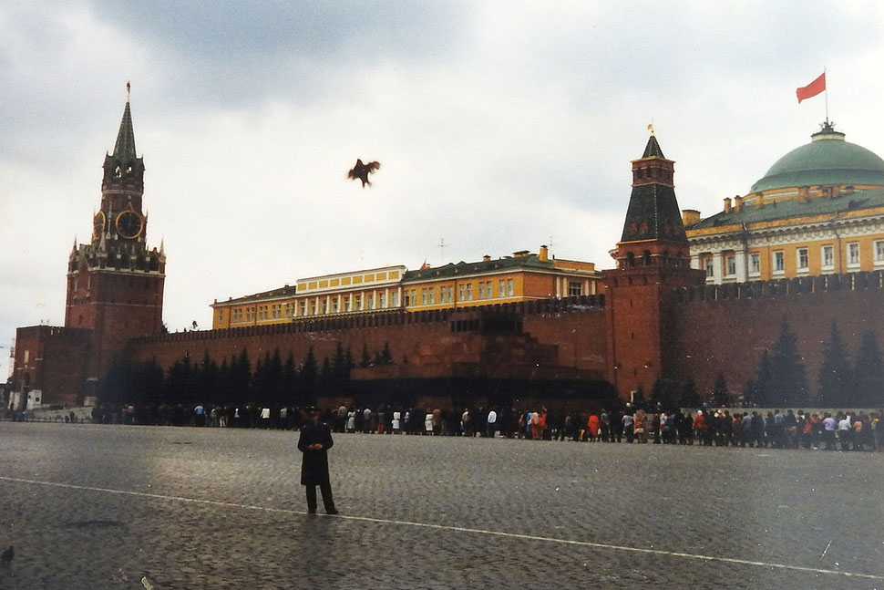 Roter Platz, Kreml, Lenin-Mausoleum im August 1990