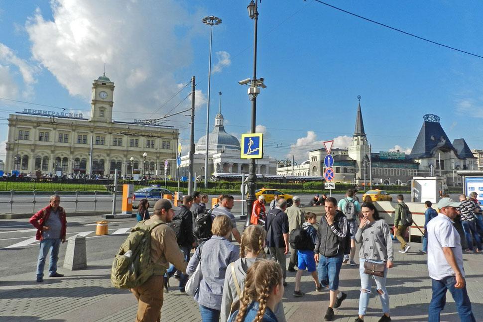 Platz der drei Bahnhöfe in Moskau