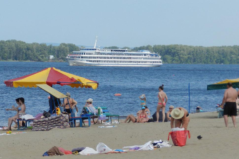 Strand am Wolga-Ufer in Samara