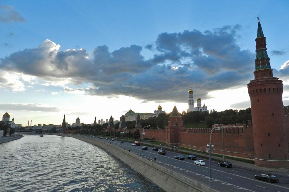 Moskau Kreml Moskwa-Fluss
