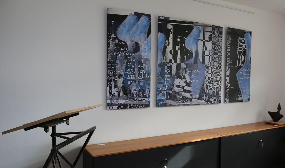Jean Molitor und Heidrun Feistner: Vita umbrae / Für Georg Heym / Fotografik auf Aluminium
