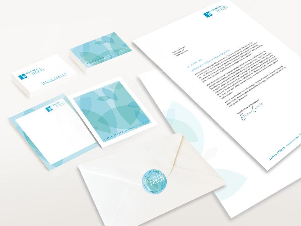 Anja Piffaretti, creative-island.ch, Visitenkartendesign, Design Logo, Flyergestaltung