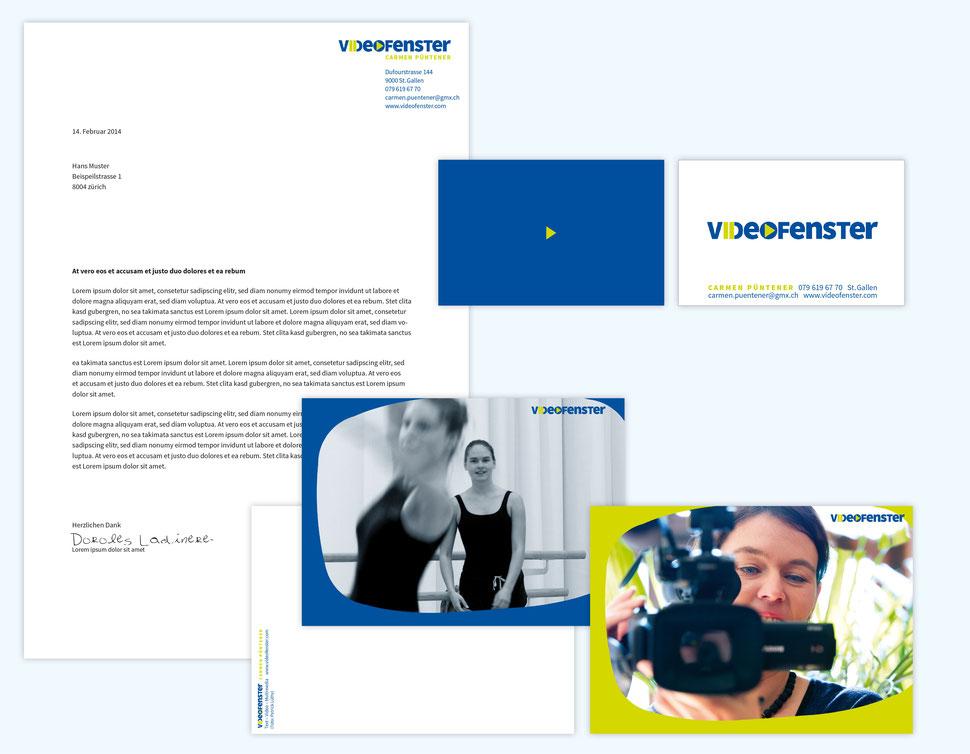 Anja Piffaretti, creative-island.ch, Videofenster, Visitenkartendesign, Design Logo, Flyergestaltung