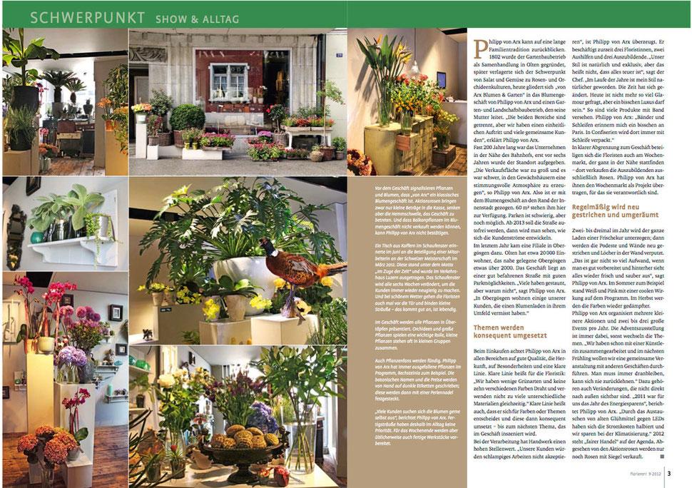 Pressetext von Arx Blumen & Garten