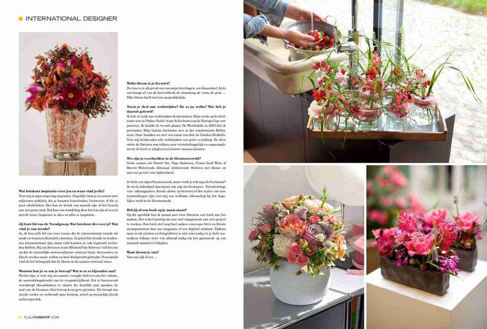 Belgisches Magazin 'Flur Kreativ'