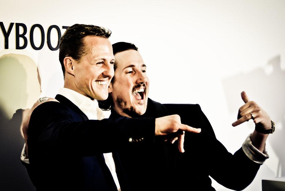 Navyboot Lounge Party, Michael Schumacher und Adrian J. Margelist