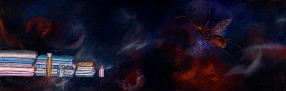 Madre V, 2007, óleo sobre madera 19X60 cm